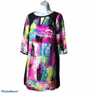 Alice & Trixie Abstract Print Silk Dress
